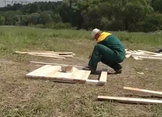 Собираем опалубку из досок
