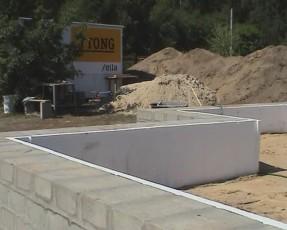 Готовый фундамент для дома из газобетона