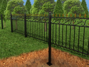 Забор для фундамента на винтовых сваях