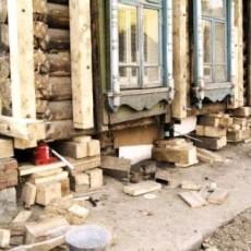 Образец деревянных подкладок под дом