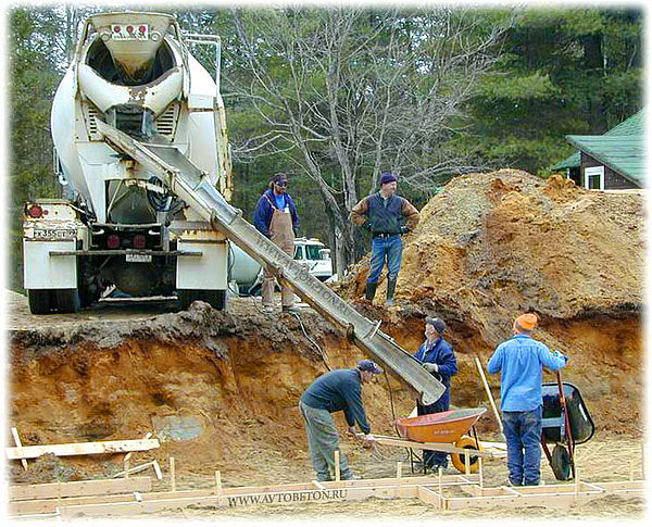 Подача бетона на расстояние своими руками
