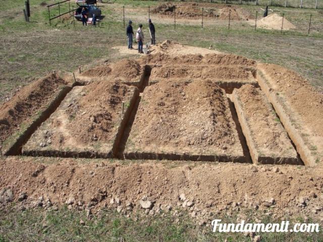 Процесс строительства фундамента