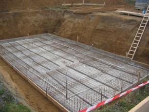 Расчет арматуры для плиточного фундаментного основания