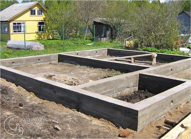 Строительство бани фундамент своими руками