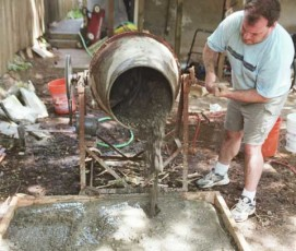 Пропорции бетона для фундамента ведрами