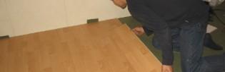 Процесс укладки ламината на хвойную подложку