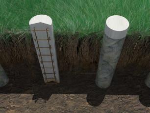 Столбчатый фундамент изнутри