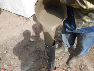 Столбчатый фундамент с применением пластиковых труб