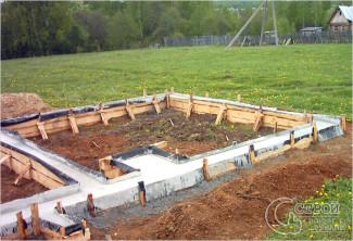 Строим фундамент под банную печь