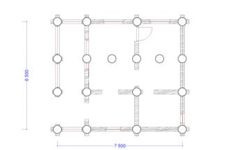 Схема расположения свай на участке