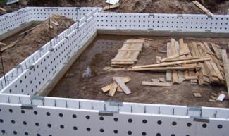 Использование несъемной опалубки для строительства фундамента