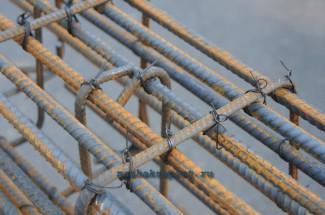 Металлический каркас используемый для усиления фундамента