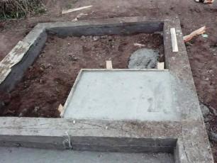 Образец схемы фундамента под печь