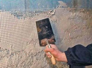 Процесс оштукатуривания поверхности