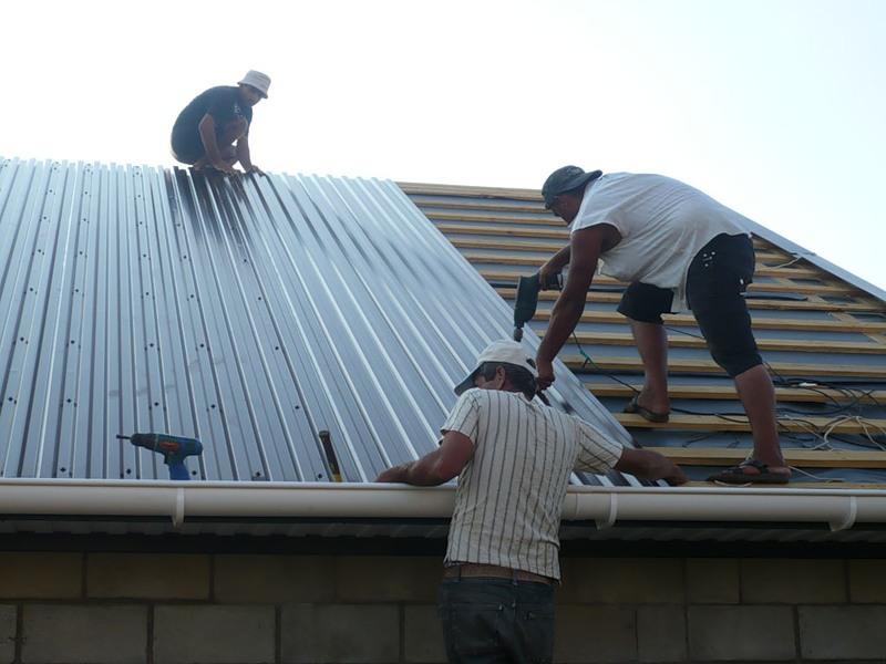 Крыша профлистом своими руками