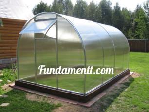 Фундамент для теплицы из поликарбоната