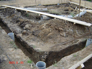 Фундамент с ростверком на столбах
