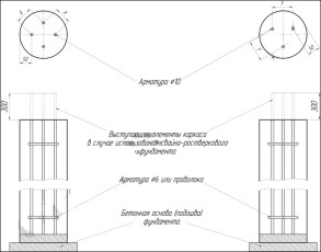 Армирование столбчато-свайного фундамента схема