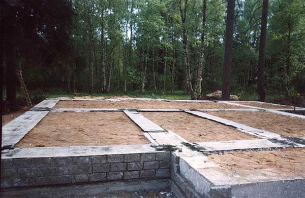 Фундамент на пучинистых грунтах - строительство
