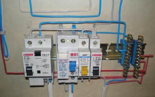 Отдельные провода к бытовым приборам