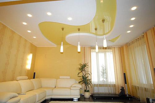 Дизайнерское решение для пленочного натяжного потолка