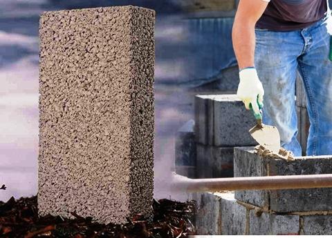 Укладка керамзитного фундамента