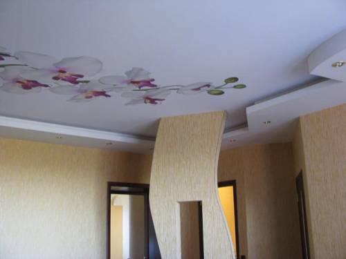 Потолок из полиэфирной ткани