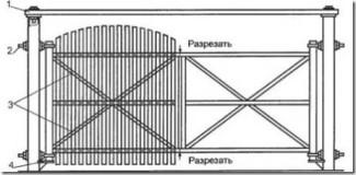 Изготовление створок на деревянные ворота
