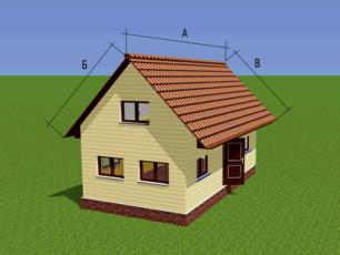 Расчет количества металлочерепицы для двухскатной крыши