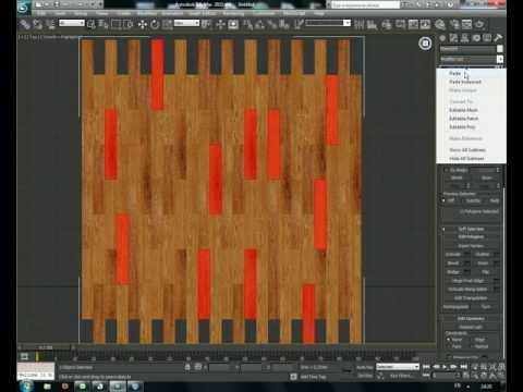 Разработка бесшовной текстуры ламината в 3D max