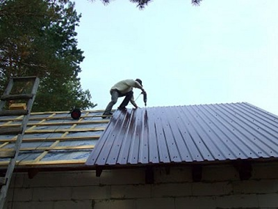 Крыша из профнастила своими 37