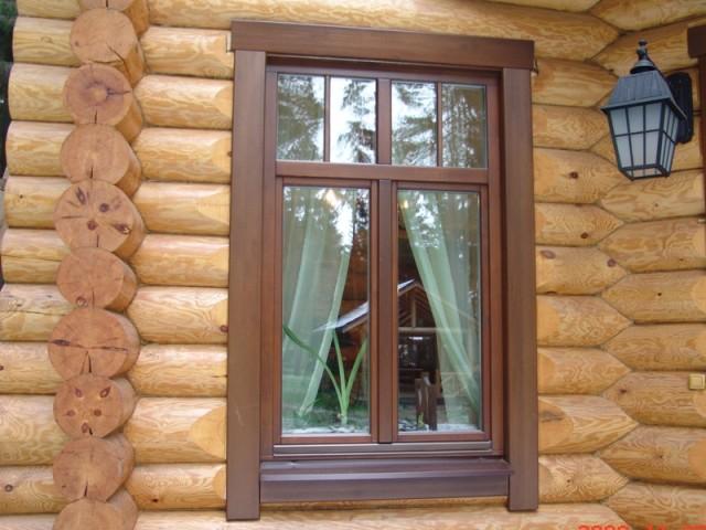 Отделка деревянных окон фото - Отделка откосов деревянных окон внутри и снаружи дома - фото