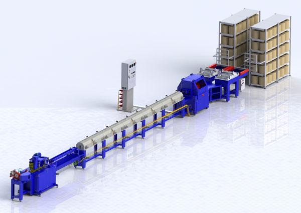 Производственная линия для изготовления углепластиковой арматуры