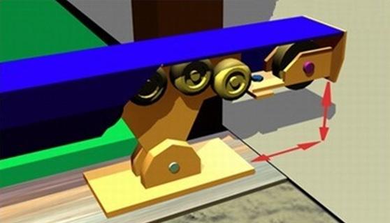 Роликовый механизм автоматических ворот