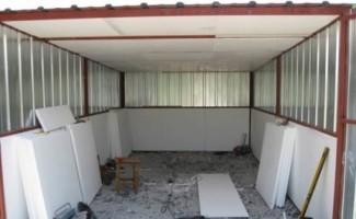 Утепление гаража с помощью листов пенопласта