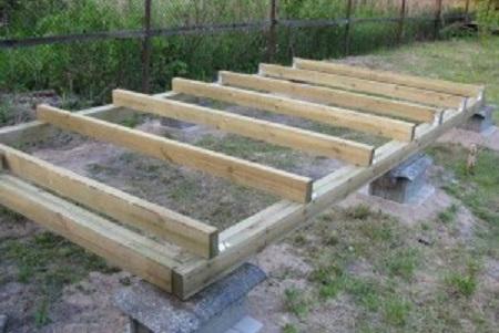 Строим фундамент сарая
