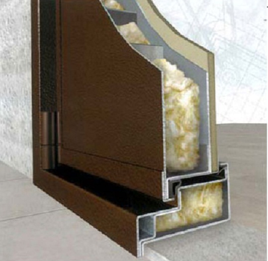Термоизоляция двери