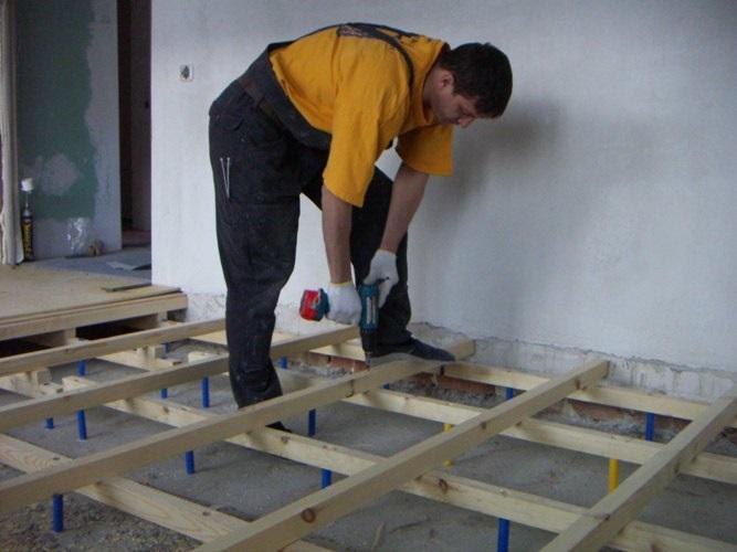 Устройство деревянного пола на лагах - инструкция.