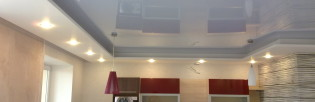 Как помыть глянцевый натяжной потолок