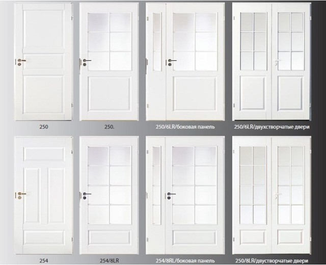Виды белых межкомнатных дверей