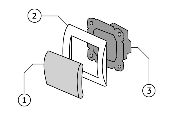 Конструкция клавишного выключателя