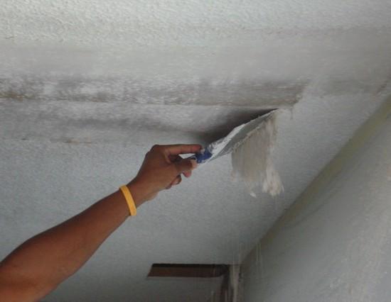 Подготовка и очистка старого потолка