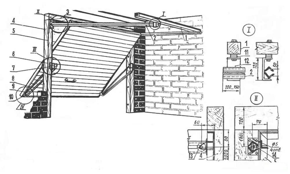 Как сделать гаражные подъемные ворота чертежи