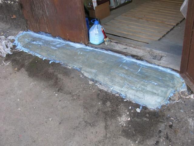 Пример покрытия бетона специальной смесью