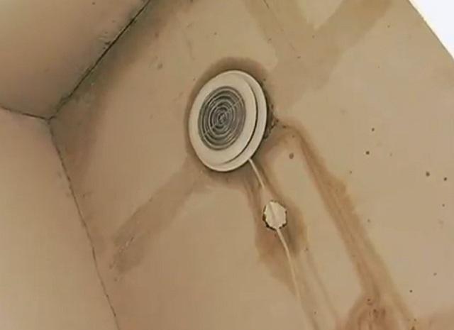 Встроенный в выводной канал вентилятор