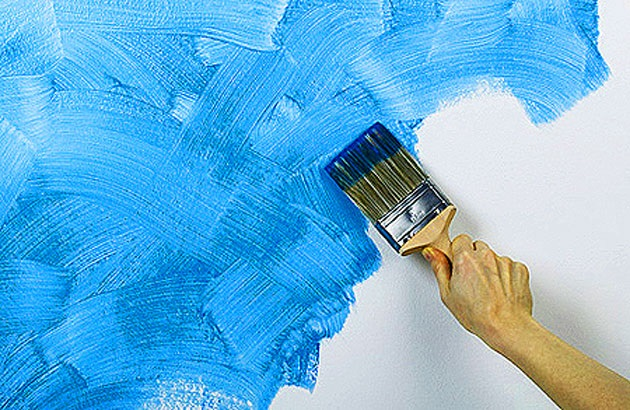 Создание фактуры при помощи краски