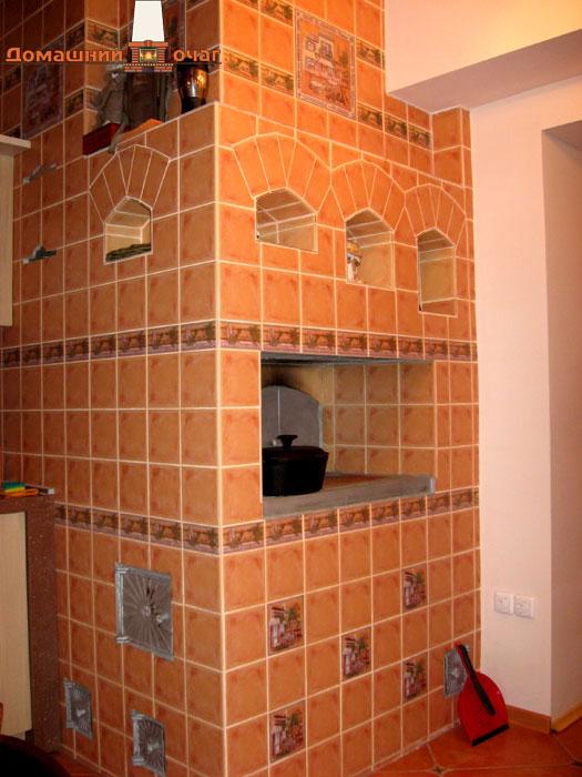 Облицовка печей керамической плиткой своими руками