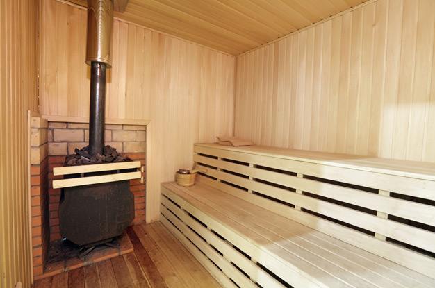 Отопление сауны газовой печью