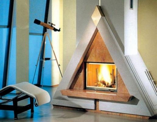Камин - треугольник