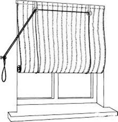 Рулонная штора своими руками